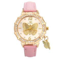 New Women Quartz Wrist Butterfly Tower Rhinestone Pendant Wrist Watch PK Malaysia