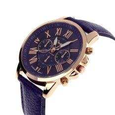 New Womens Fashion Geneva Roman Numerals Faux Leather Analog Quartz Wrist Watch Purple Malaysia