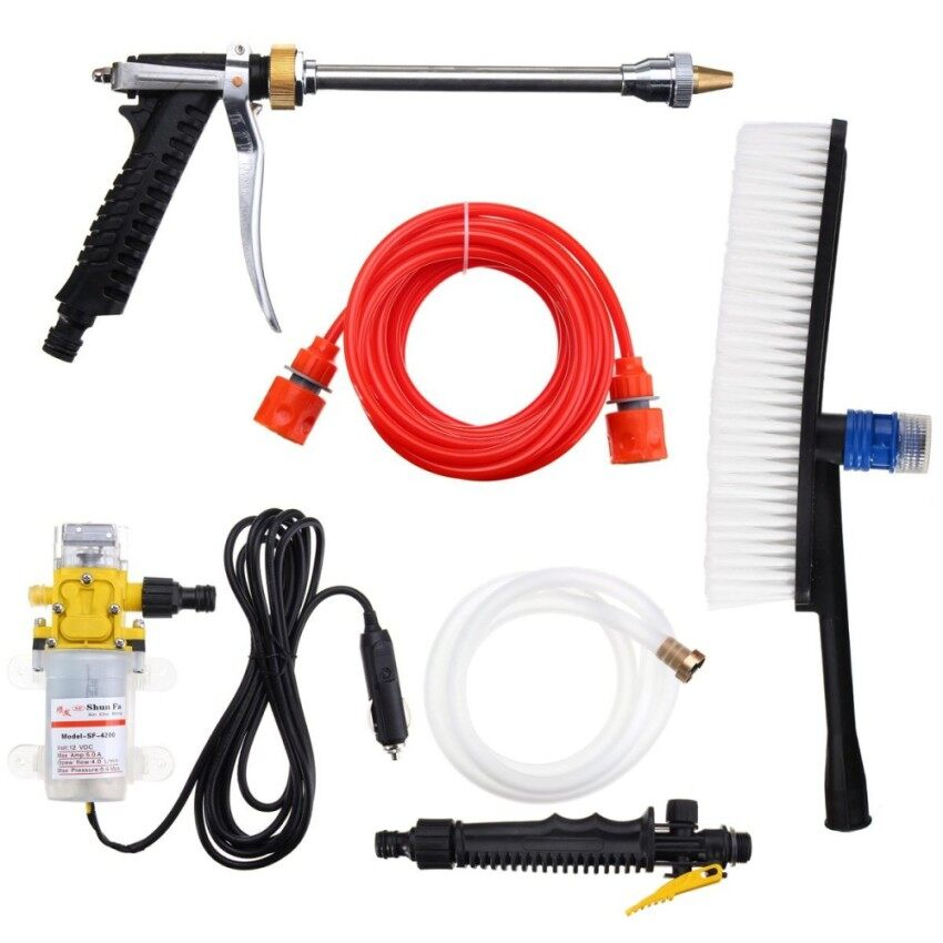 Price Newchance Dc 12V 100W 160Psi High Pressure Car Washer Cleaner Water Wash Pump Sprayer Kit Intl Singapore