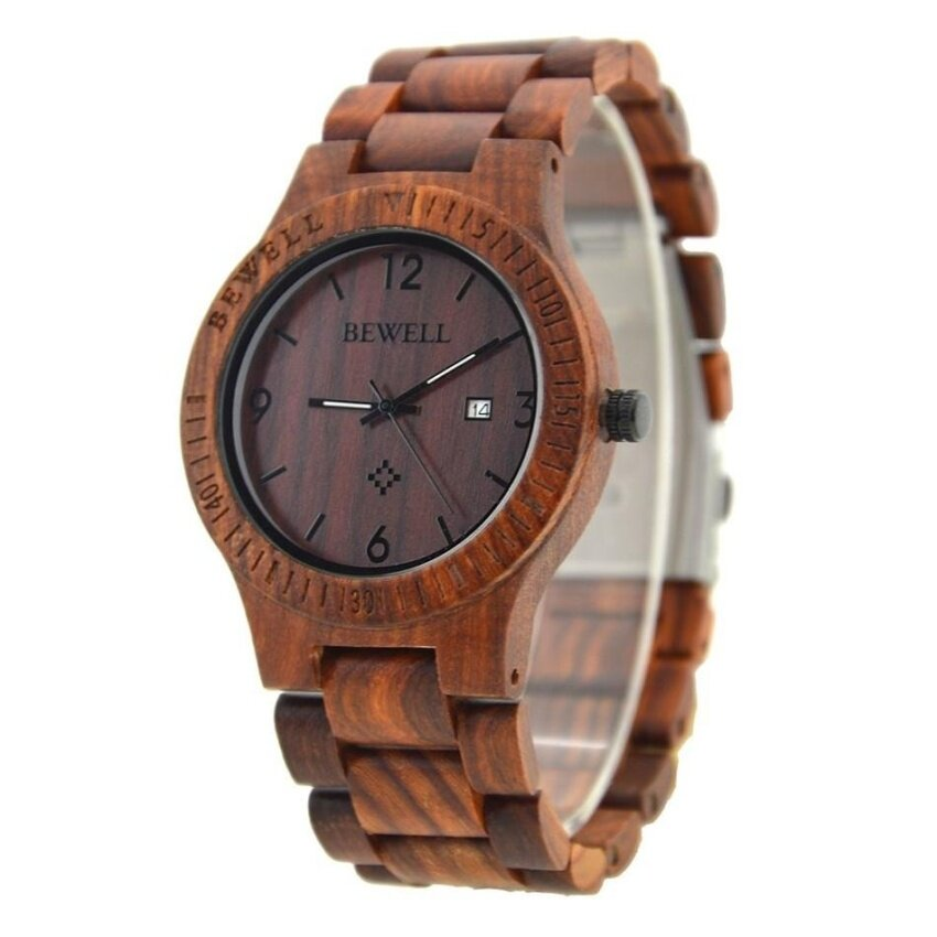 LONGER WIN Newest  Natural Handmade Wood Watch Top Gift Coffee MapleWooden Watches Auto Date for Men and Women Japnese Quartz MovementWrist Watch-Brown Malaysia