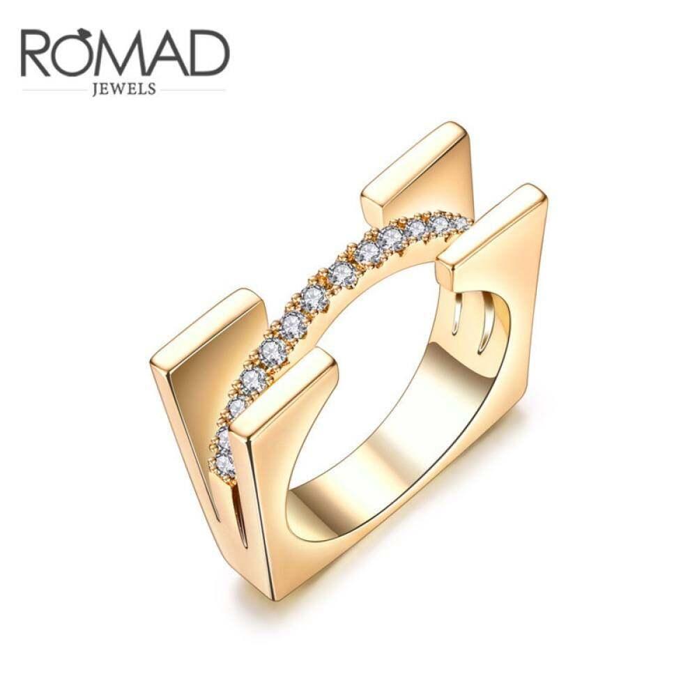 Terbaru Berlian Multi-Layer 925 Mawar Emas Pernikahan Romantis Batu-Rose Kubik Berlapis Gold Zirconia Ukuran Cincin 6 By Renault