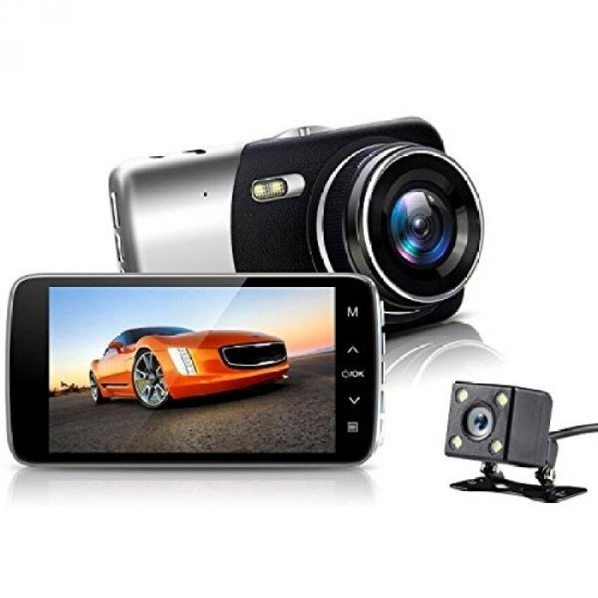 Nexgadget Dual Lensa Dash Cam. X10A Seri Penuh HD 1080 P Depan + Vgarear Lensa 170 ° + 120 ° Super Mobil Sudut Lebar Dash Cam dengan 4.0