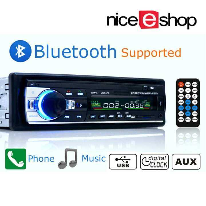 Bluetooth Car Stereo Audio In Dash Aux Input Receiver Sd: NiceEshop Bluetooth Car Stereo, In-Dash Single Din FM MP3
