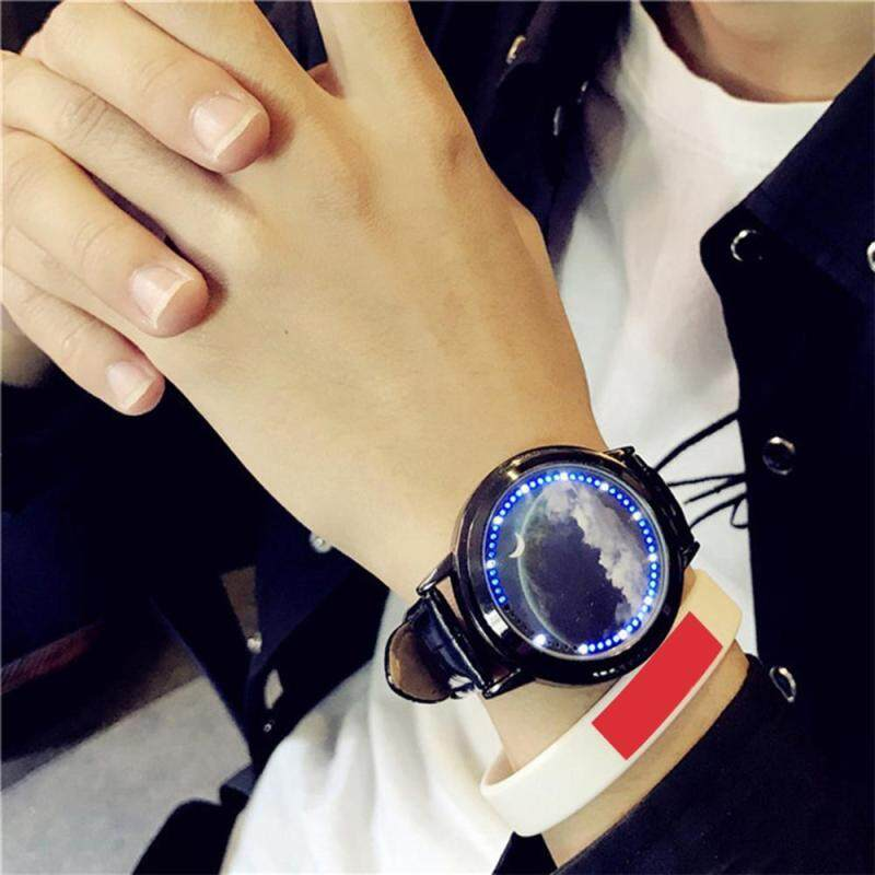 niceEshop Creative LED Watch Personality Blue Light Touch Screen Wristwatch For Couples Lovers Malaysia