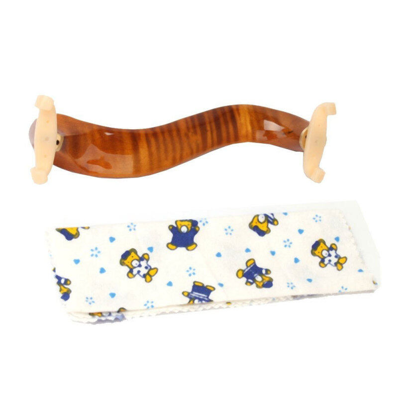 niceEshop New Deluxe Maple Wood Violin Shoulder Rest 3/4 4/4 Size,Golden Malaysia