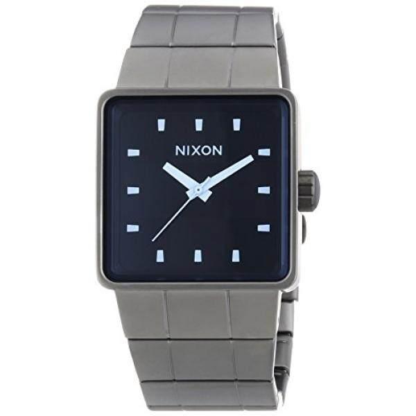 Nixon Herren-Armbanduhr Quatro Logam Biru Kristal Analog Quarz Edelstahl A0131427-00-Internasional