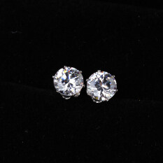 931be2076 Noble Round Crystal Earring Ear Stud Piercing Jewelry White Gold Plated