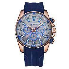 OCHSTIN Fashion Sport Silicone Men Watches Quartz 3ATM Water-resistant Luminous Man Wristwatch Relogio Musculino Calendar Chronograph Malaysia