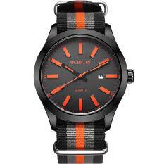 OCHSTIN GQ048C Canvas Strap Steel Case Sport Man Wrist Quartz Watch Malaysia