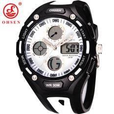 OHSEN Watch Jam Tangan es Men Luxury Brand Rubber Strap Watch Jam Tangan es Digital Date