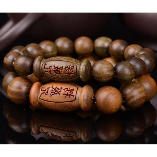 Open Hijau Tan Tasbih Budha Cahaya untuk Stare Blankly Ketat Gelang Dekorasi Pria dan Wanita Pribadi mengutuk Gelang Pecinta Kayu Cendana Tali Tangan Melawan Kekuatan Jahat untuk Melindungi Badan-Internasional