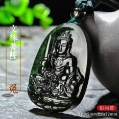 Opening Taishan Jade natal Buddha pendant men and women jade necklace fugen void Tibetan Buddha big day, if the gift