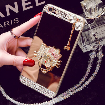 Oppo R9S Mobile Phone Case R11 A59 Mirror Tpu Diamond R9plusCreative Protective Cover A39 R7SA57 (Color: Need To LanyardContact Customer Price / Size: Oppo A33) - intl