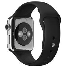 Original 1:1 Silicone Band with Connector Adapter for Apple Watch Sport 42mm Strap for IWatch Sports Buckle Bracelet Band(Black) Malaysia