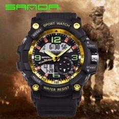 a6d86e925bf Original SANDA 759 G Style Military Waterproof Outdoor Sports Men s  Shockproof Digital Watch (Black Gold