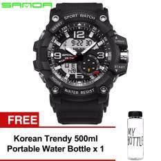 866432da4dfff Original SANDA 759 G Style Military Waterproof Sports Men s Shockproof  Digital Watch (Full Black)