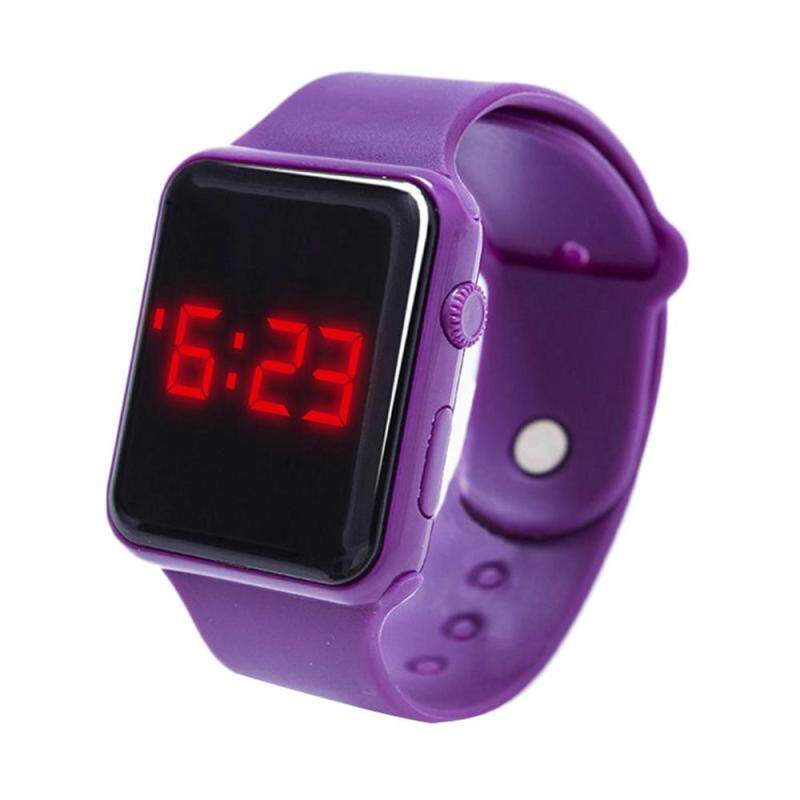 Oscar Store Electronic LED Silicone Watch Bracelet Touch Screen For Children Kids Boys Girls Malaysia