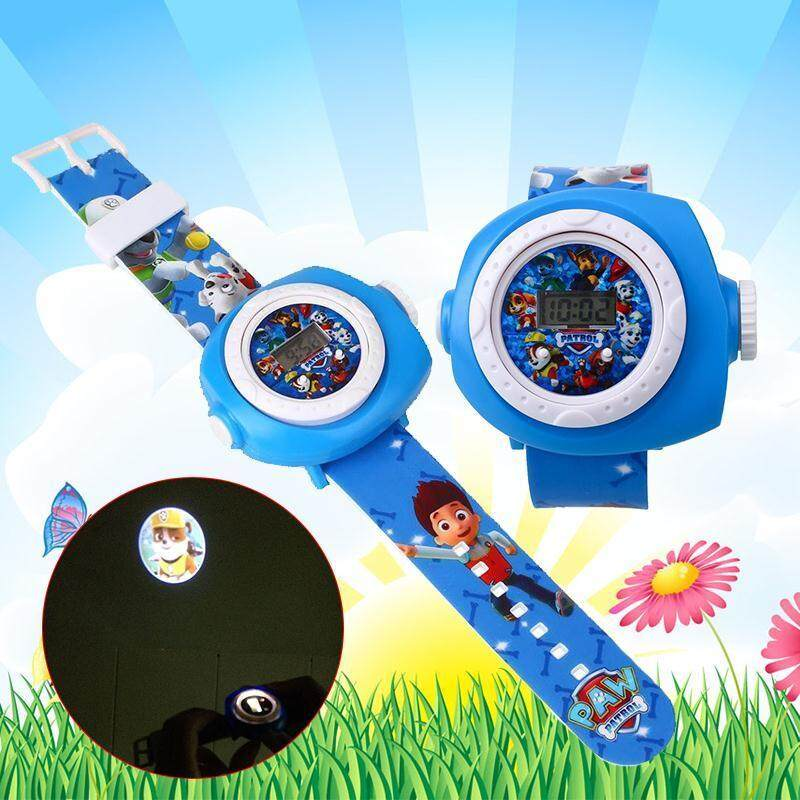 Oscar Store TV Character PAW PATROL Kids Figures Led Projection Cartoon Watch Malaysia