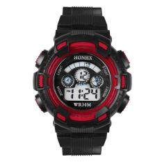 Outdoor Multifunction Waterproof Unisex Sports Electronic Watch (Red) Malaysia