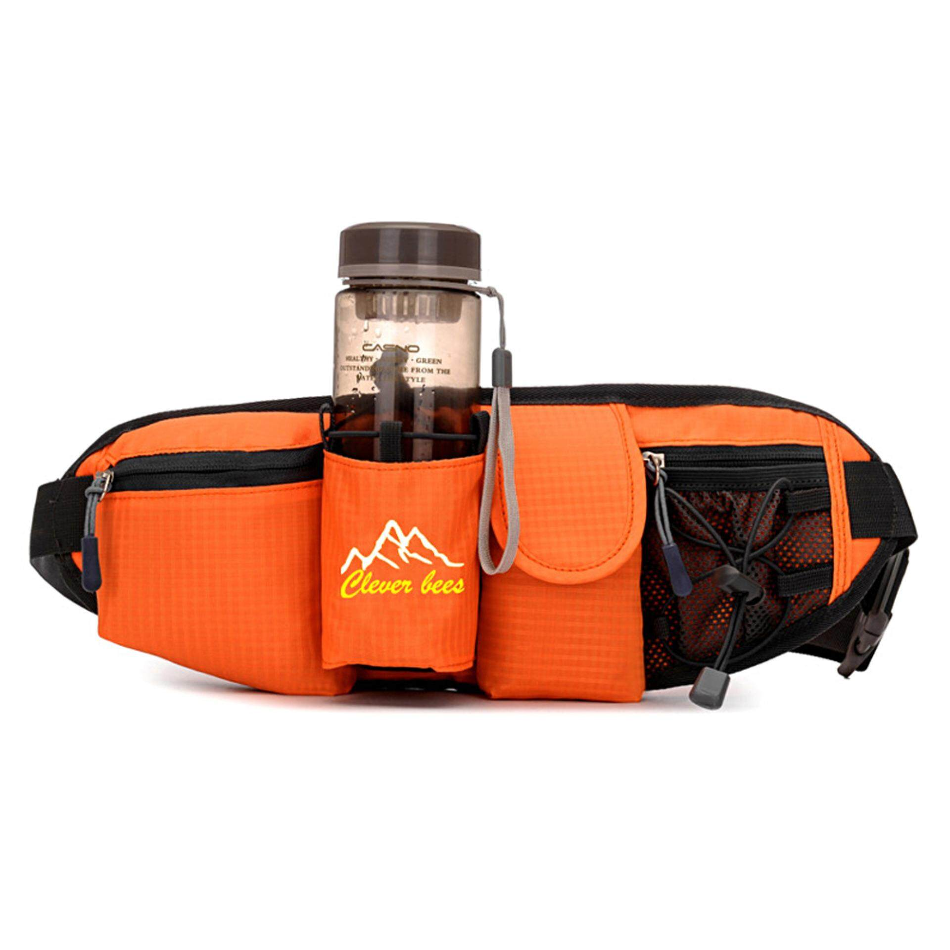 Mr. bang Outdoor Sports Waist Pack Running Bag with Water Bottle Holder for Running Hiking