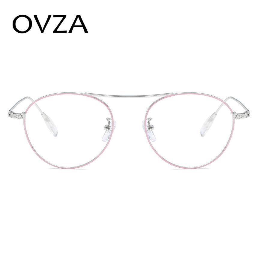Ovza New Oval Metal Eyeglasses Men Fashion Women Glasses frames Transparent  lens 30c7d8c1c3
