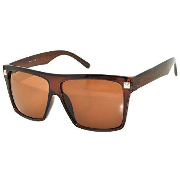 dadb6c11361 OWL Amber Lens Classic Vintage Sunglasses Brown Frame UV 400 OWL.