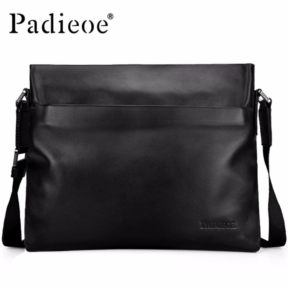 Padieoe High Quality Cow Leather Men s Shoulder Bags Famous Brand Genuine  Leather Crossbody Bags For Male bb194028d493c