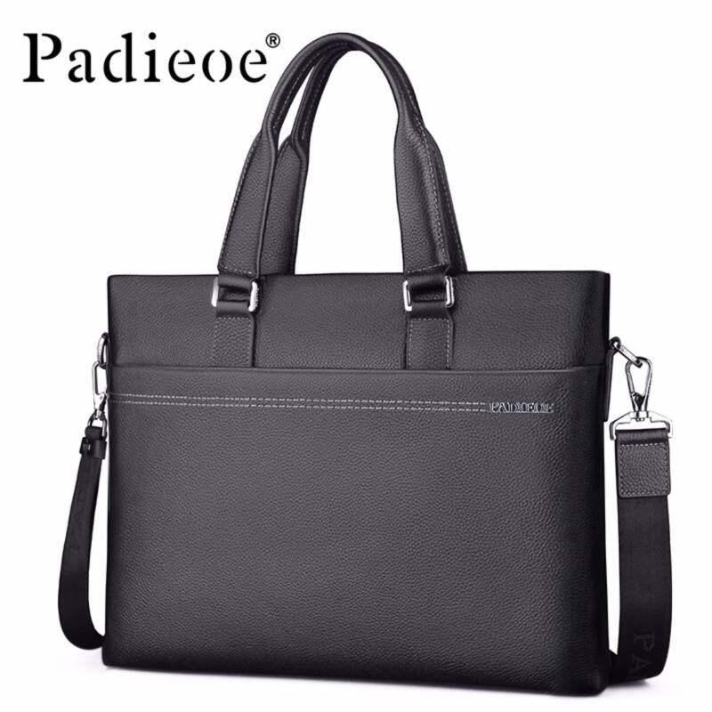 GladBuy Padieoe leather mens business briefcase mens Messenger bag shoulder bag mens office bag laptop briefcase