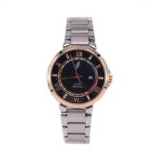 Paris Polo CLub 3PP-1704372L Black Women Business Analog Silver Colouful Stone Watch Malaysia