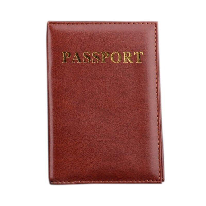 Ví Đựng hộ chiếu Bao Da Ốp Lưng (Nâu)-quốc tế