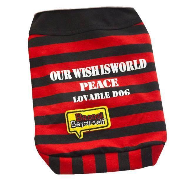 Bermotif Huruf Kerah Rompi Sweater Anjing Pakaian Hewan Peliharaan RDS-Intl