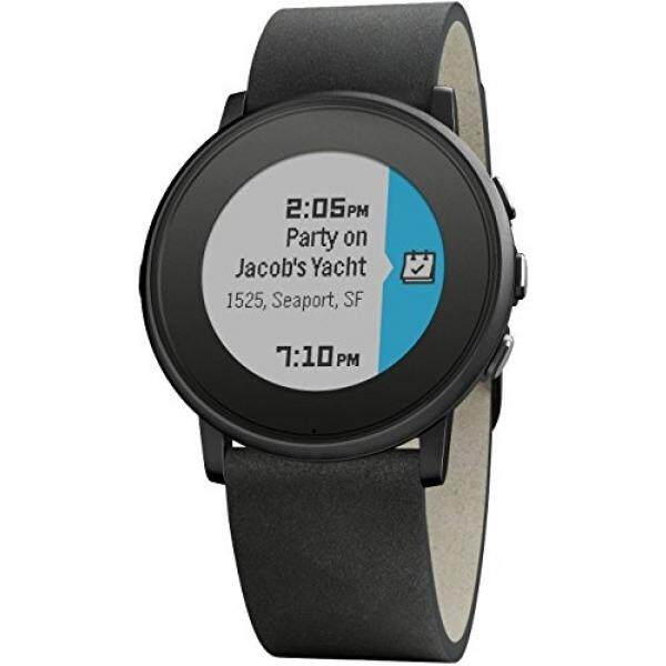 Pebble Time Round 20mm Smartwatch for Apple/Android Devices - Black/Black - intl