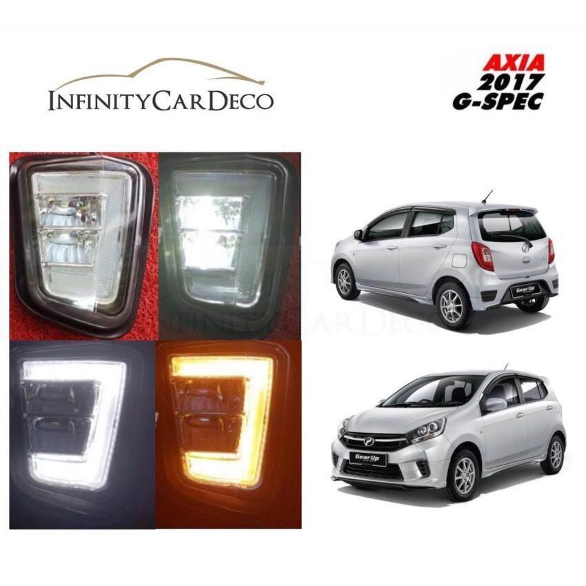 Perodua Axia 2017 Daylight Daytime DRL + Signal + Fog Lamp Cover