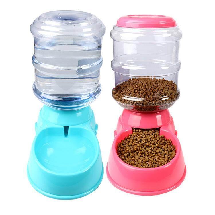 เครื่องป้อนอัตโนมัติสัตว์เลี้ยง Waterer, 0.7 Gal อาหาร, ชามใส่น้ำสำหรับแมวสุนัข - Intl By Gargon D Store.