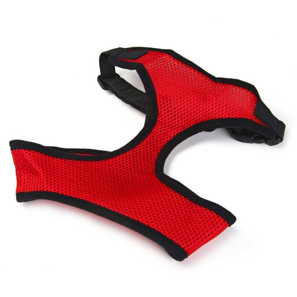 Pet Dog Clothes Adjustable Dog Collar Leads Chest Harness Strappetpuppy Cat Mesh Vest Red By Qjq Store.