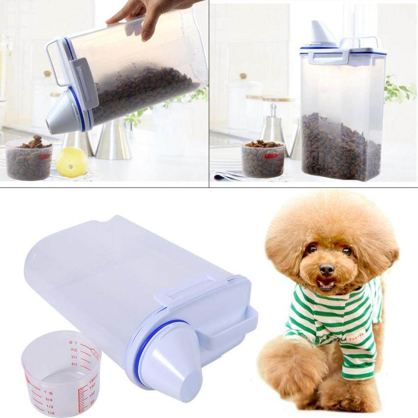 Pet Food Storage Containers Set Dog Cat Dry Food Dispenser Easy Pour With Cup Pet Supplies