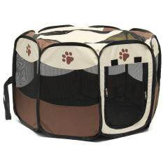 Sales Price Pet Home Fence Dog Bed Kennel Play Pen Puppy Soft Playpenexerciserun Cage Folding Crate