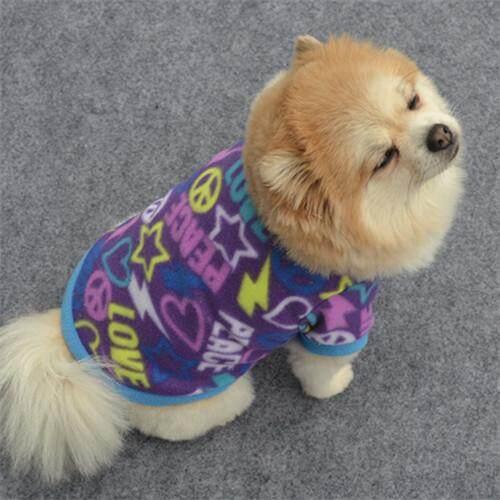 Hewan Peliharaan Anjing Musim Semi Sweater Hangat Anjing Kecil Kucing Pakaian Hewan Peliharaan Rompi Kaos PP