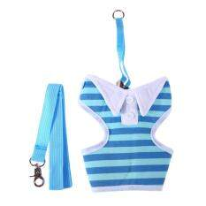 Pet Small Dog Chest Stripe Vest Harness Strap Traction Rope Dog Supplies(blue)-L By Crystalawaking.