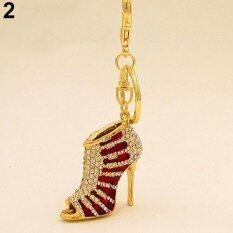 Phoenix B2c Creative High Heel Shoes Keychains Rhinestone Keyring Women Handbag Key Holder (red) By Phoenix B2c Llc.