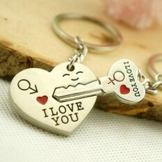 Phoenix B2c Romantic Couple Keychain Keyring Keyfob Valentines Day Lover Gift Heart Key Set By Phoenix B2c Llc.