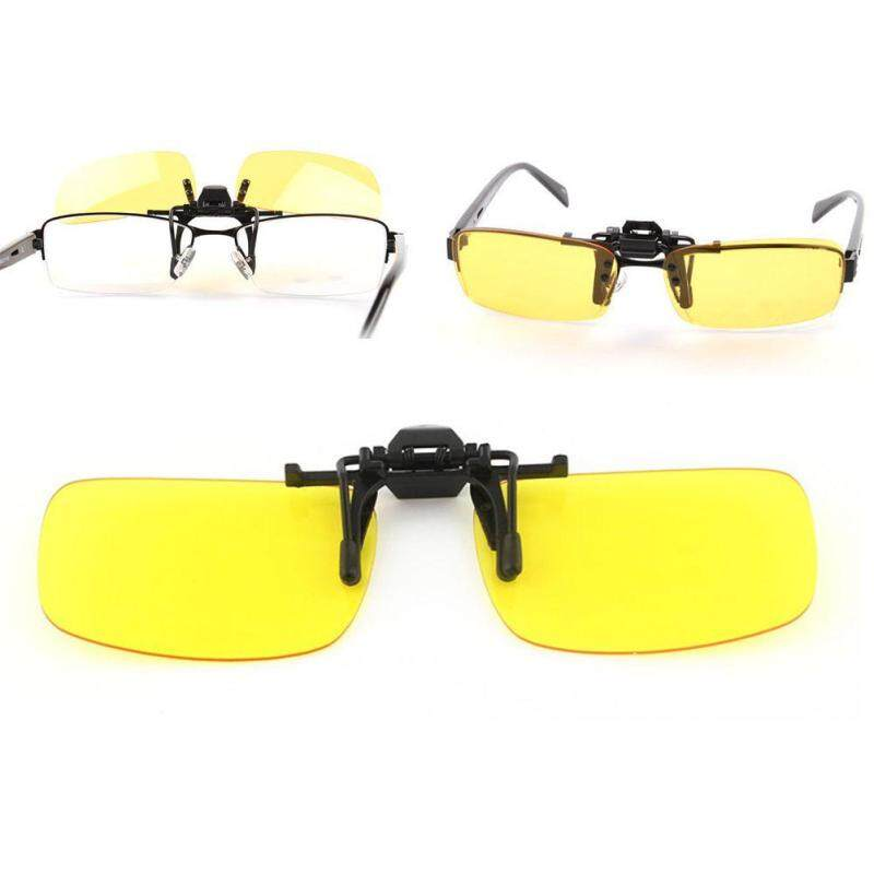 Polarized Clip On Sunglasses Night Vision Driving yellow Eyeglasses Sun Glasses Malaysia