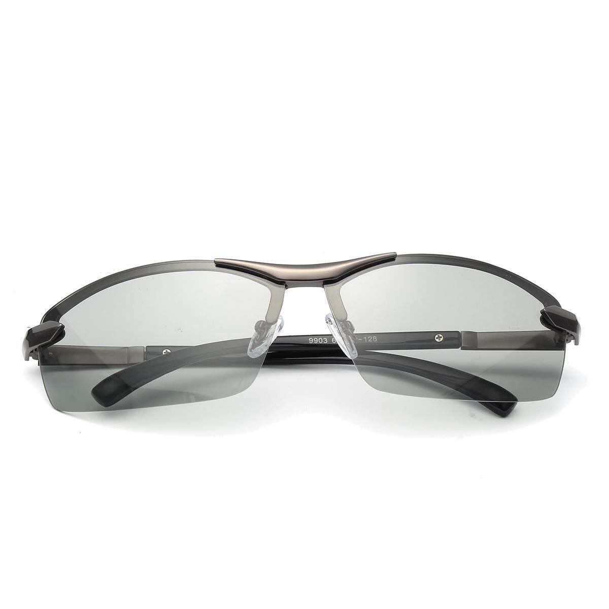 Fotokromik Terpolarisasi Kacamata untuk Pria Mengemudi Lensa Transisi Kacamata Hitam Abu-abu-Intl
