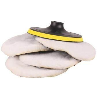 "Paling murah Polishing Buffing Pad Kit 5PCs 7"" Polisher Buffer Wool & Velcro Bonnets Wheel kajian semula - Hanya RM73.86"