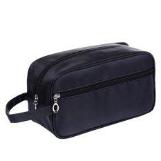Portable Waterproof Big Capacity Travel Toiletry Bag Wash Shaving Bag Makeup Grooming Toilet Bag Dark Blue