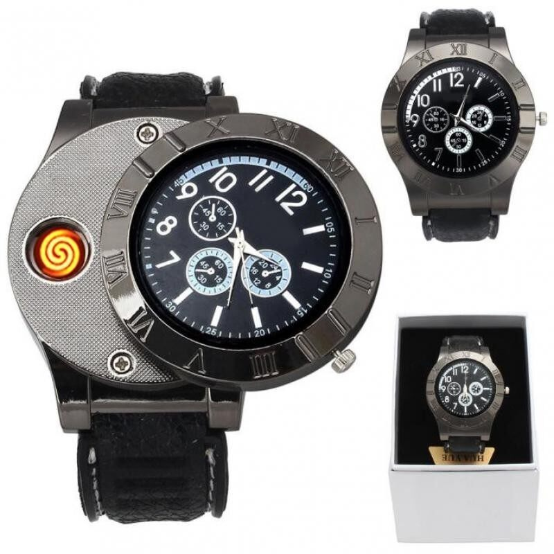 GADGET HERO Cigarrete Electronic Lighter USB Rechargeable Quartz Wrist Watch Malaysia