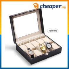 Premium PU Leather Watch Display Storage Box Case (10 Slots) Malaysia