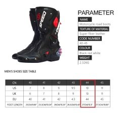 Pro-Biker Waterproof Racing Gear Footwear Motorcycle Boots Cycling Shoes-44 By Kwok.