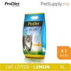 Prodiet Cat Litter 5l - Lemon X 2 Packs By Pet Supply.