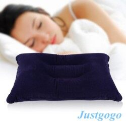 Justgogo Portable Air Inflation Pillow PVC  For Outdoor Travel Camping Hiking Sleeping